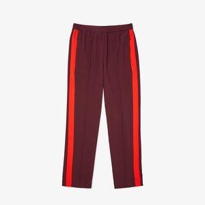 Lacoste side stripe track pants